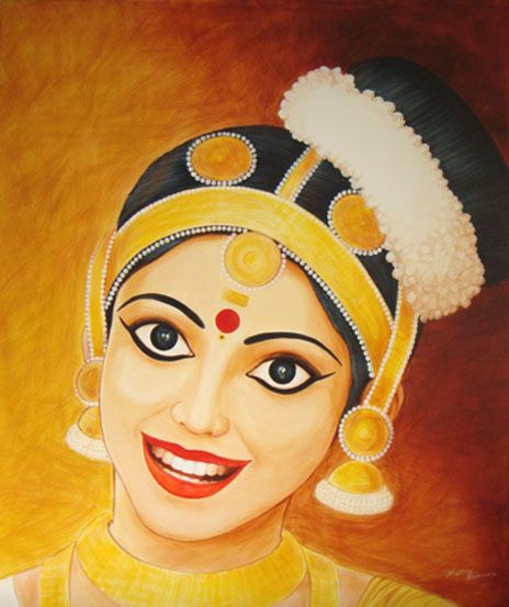 Mohiniyattam Painting Paint Colors For Living Room