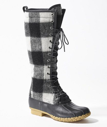 Signature Wool Bean Boot Buffalo Check 16 And Quot Footwear Free Shipping At L L Bean Zapatos Moda Calzas