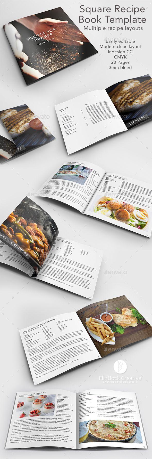 Recipe / Cook Book Template | Recetario, Cenas y Tipografía