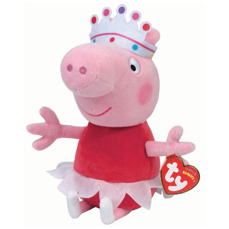 "TY Beanie Baby 6/"" BALLERINA PEPPA PIG the Pig Plush Animal Stuffed Toy MWMT/'s"