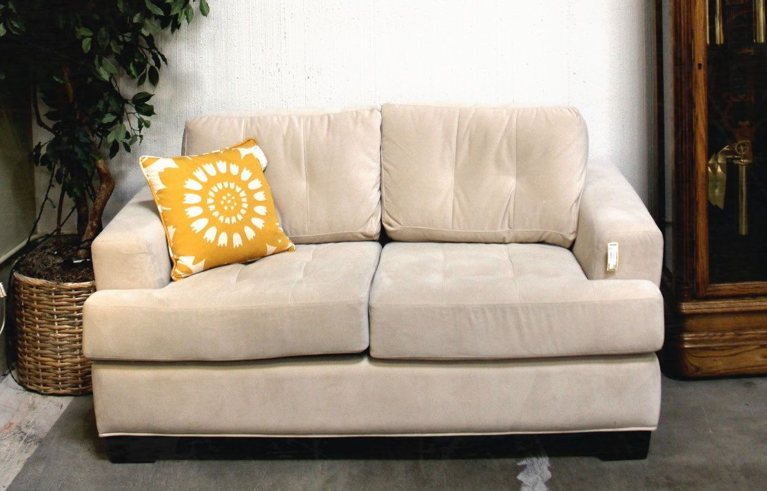 Contemporary Microfiber Love Seat (16757-65) - Consignment Northwest