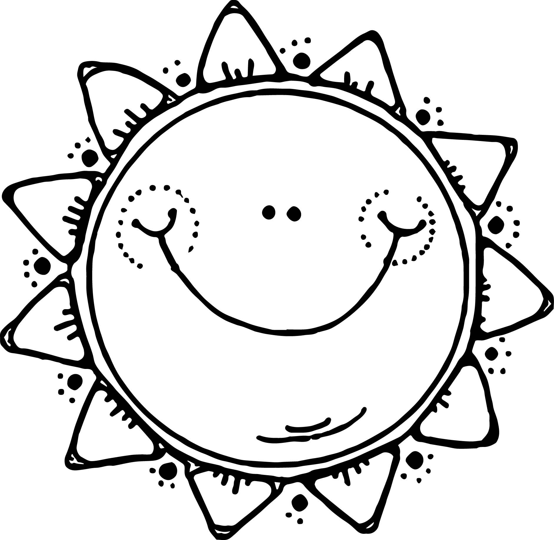 Kids Sun Summer Coloring Page