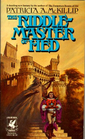 The Riddle-Master of Hed by Patricia McKillip. I love this series. This is the cover I have, but the site shows a variety of covers for the book which are fun to look at.