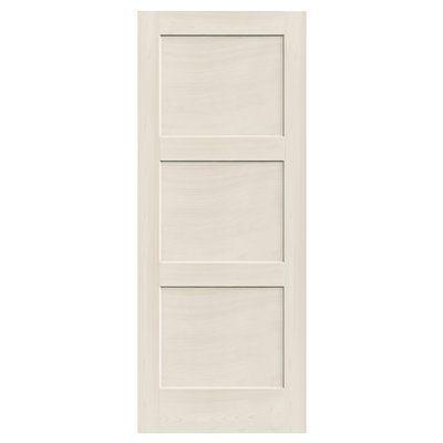 Reliabilt 910129 3 Panel Solid Wood Interior Slab Door Interior