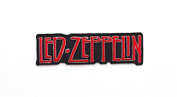 Led Zeppelin Applique Iron on Patch Size 10.6 by CraftRoomStorage