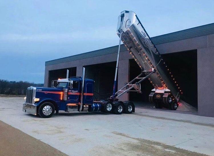 End Dump Truck >> Semi Truck With End Dump Dump Trucks Trucks Big Rig