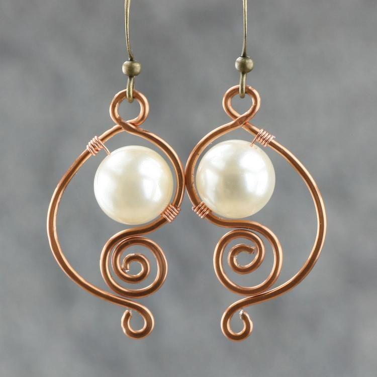 Copper wire work earrings | Interesting ideas | Pinterest | Schmuck ...