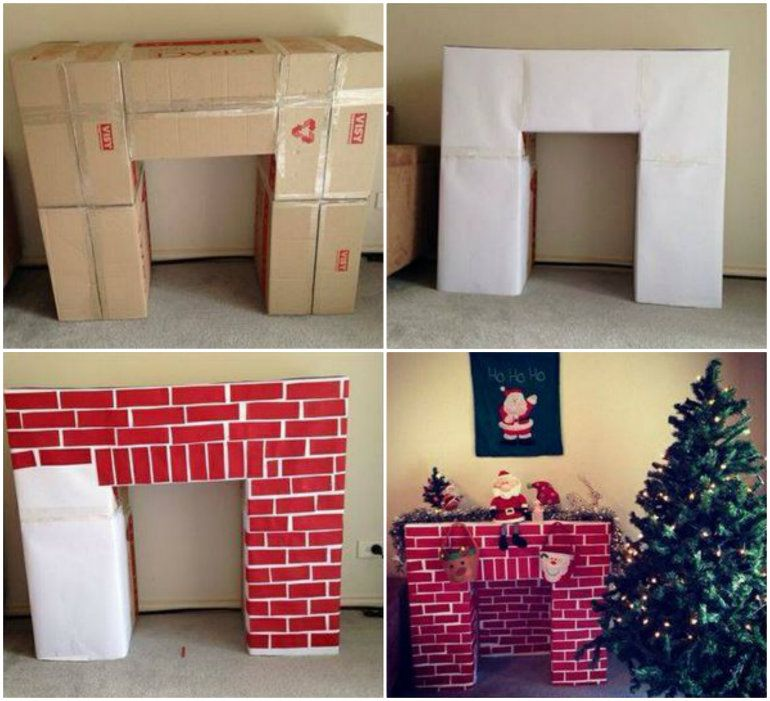 Don't have a fireplace in your home? This Cardboard Christmas ...