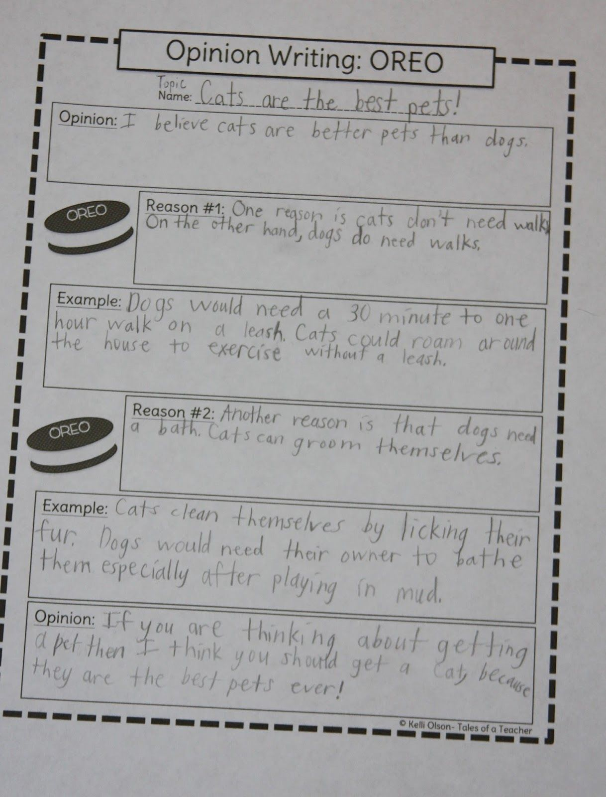 A Learning Journey O Is For Oreo Opinion Organizer Persuasive Writing