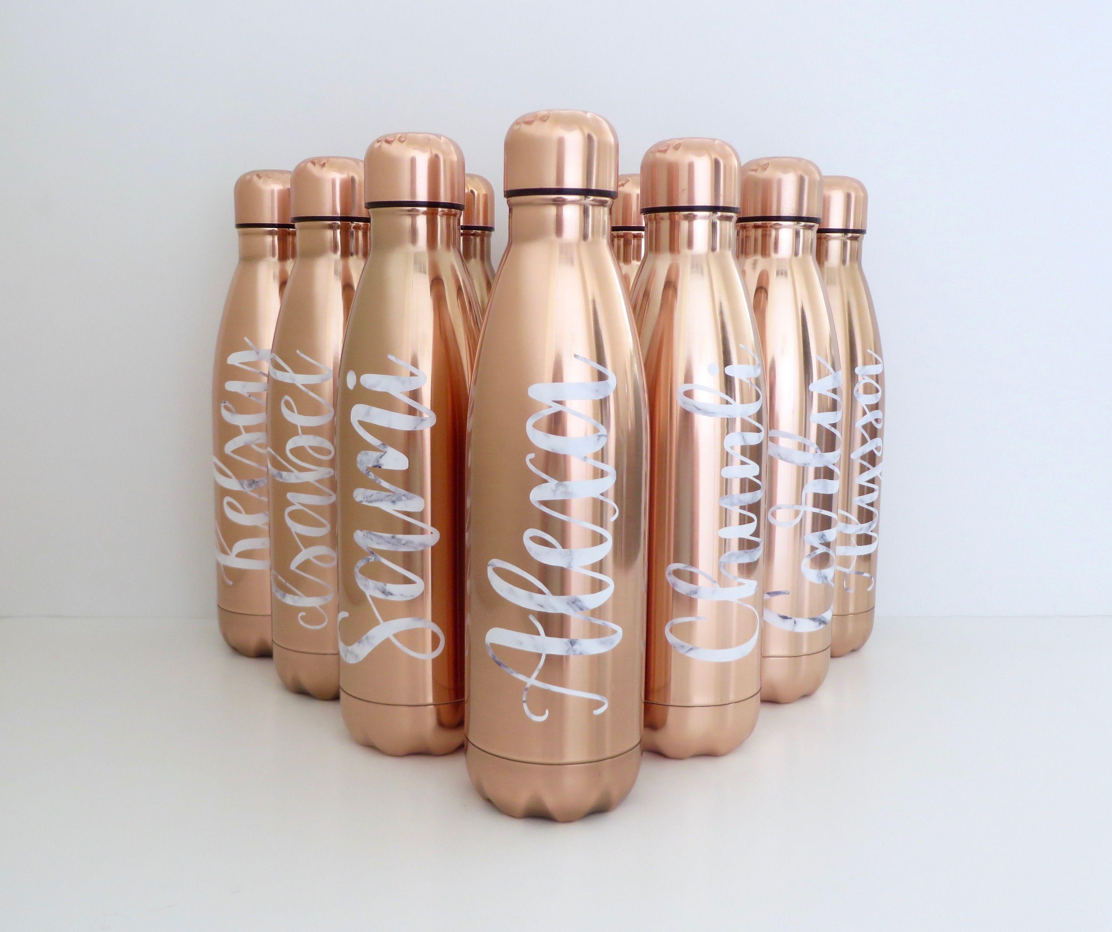 Custom Rose Gold Water Bottle Swell Inspired