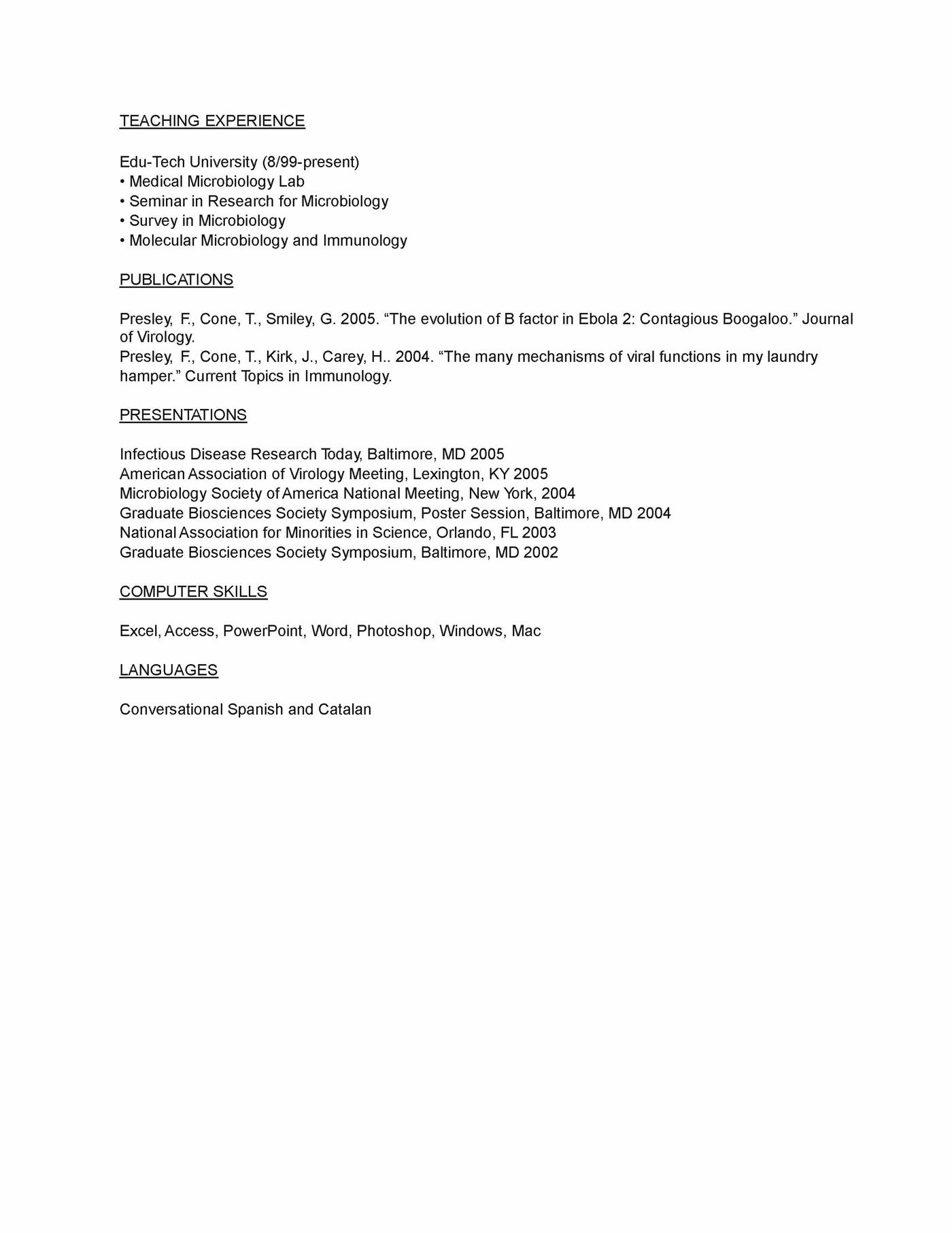microbiology phd sample work objective microbiologist resume