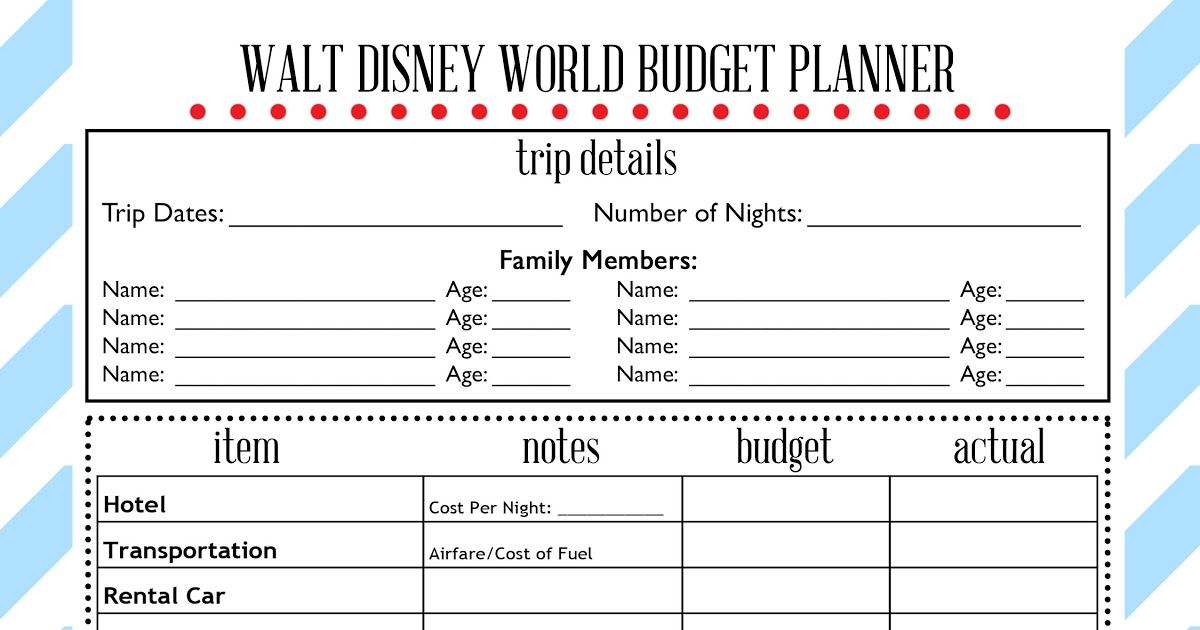 disney world vacation budget planner wit wander jpg disney