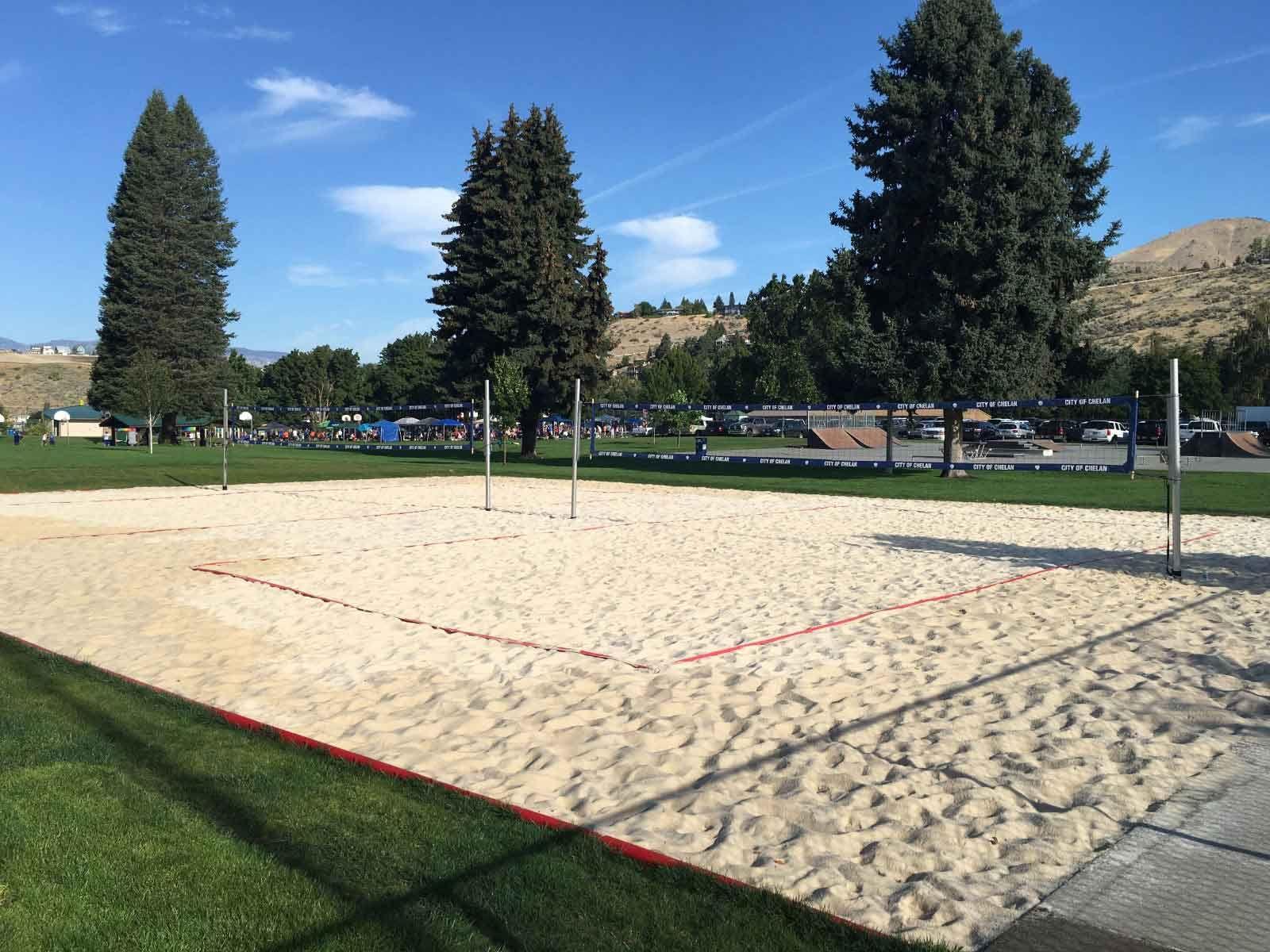 How To Construct A Volleyball Court Volleyballusa Com Beach Volleyball Court Backyard Sports Beach Volleyball