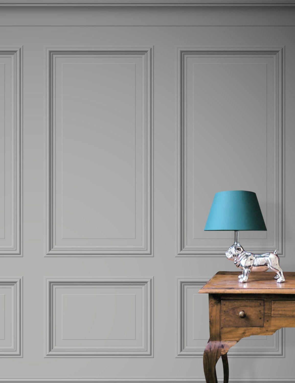 Living Room Walls Wood Panels: Bespoke Panelling Wallpaper