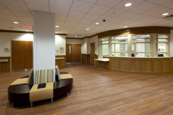 Mental Health Inpatient Dayroom With Secure Nurse Station