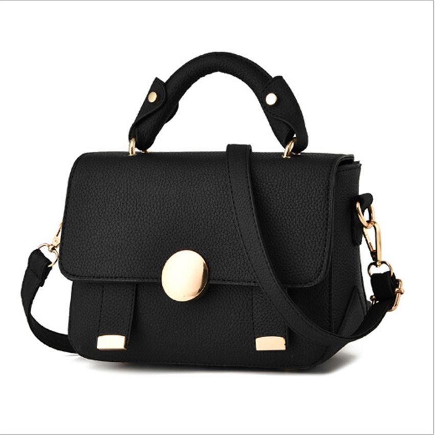e31bd7c206b3 2017 New Bolsas Femininas Women s Leather Handbag Women Black Shoulder Bag  Fashion Small Messenger bags Femme Sac A main Beige
