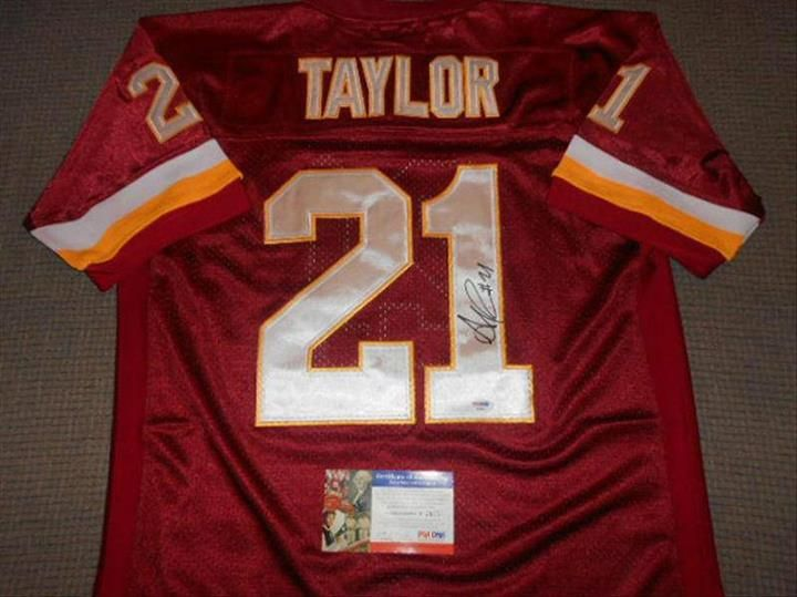 reputable site c34ba f861b Sean Taylor Redskins Signed NFL Throwback Autographed ...