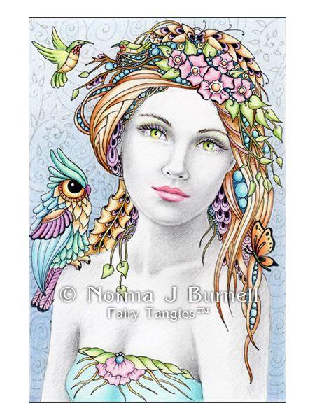 Caelia Amp Summer Friends An Original Fairy Tangle By