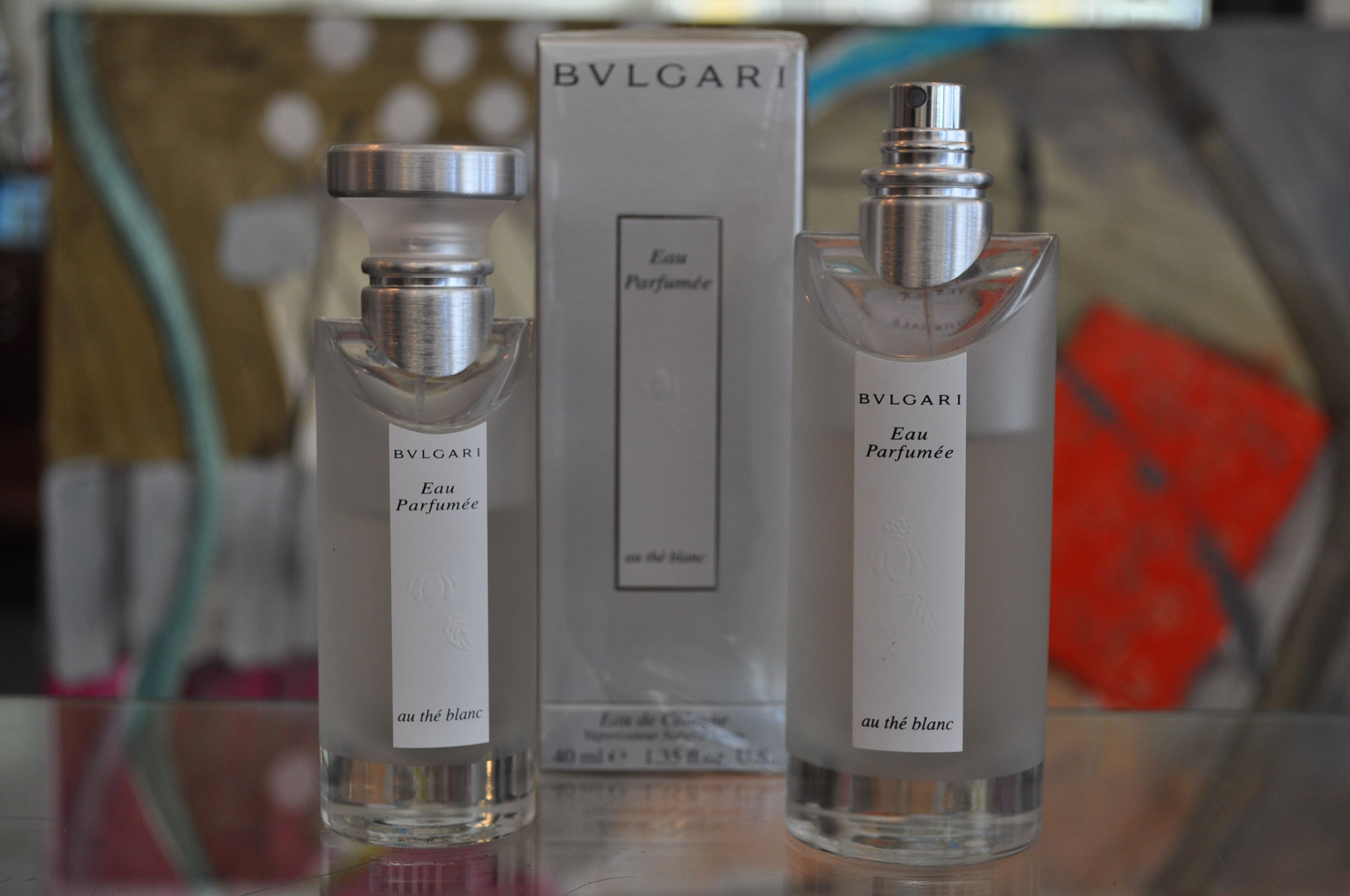 Bulgari au thé blanc perfume sold at jewel toffier call