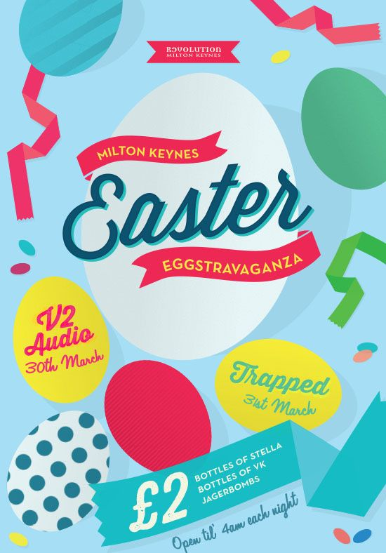 easter graphic design colourful