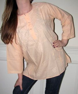 #Indian #Tunics #Kurtis Tailored To Have A Slimming Effect