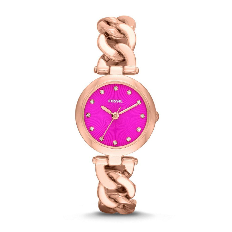 Women S Watches Gold Watches Store Fossil Women S Es3574 Olive Analog Display Analog Quartz Rose Gold Watch Bayan Saatleri Sari Kaslar Ve Saatler