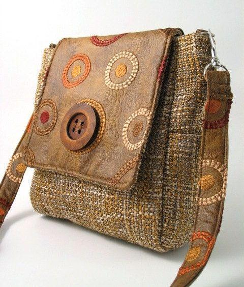 vegan backpack handbag messenger bag tote bag purse by daphnenen ...