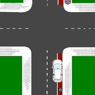 6 Sorteert de rechtsafslaande auto goed voor?