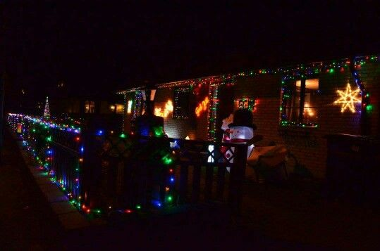 Our Christmas lights outside.  2015