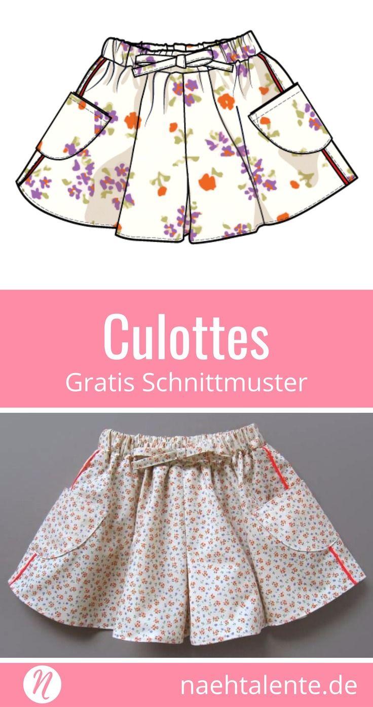 Culottes für alle Größen - Damen und Mädchen - Tutorial | Hosenrock ...