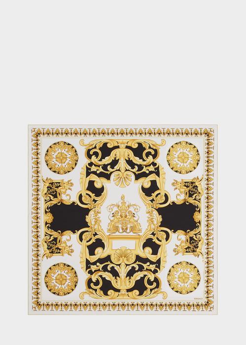 4f8586a72c Contrast Barocco Print Silk Foulard for Women | US Online Store in ...