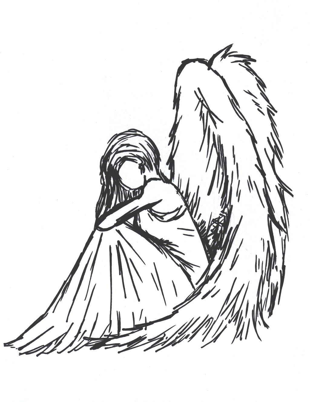 Sioban Mckey Sad Angel By Sioban Mckey On Deviantart And Tumblr