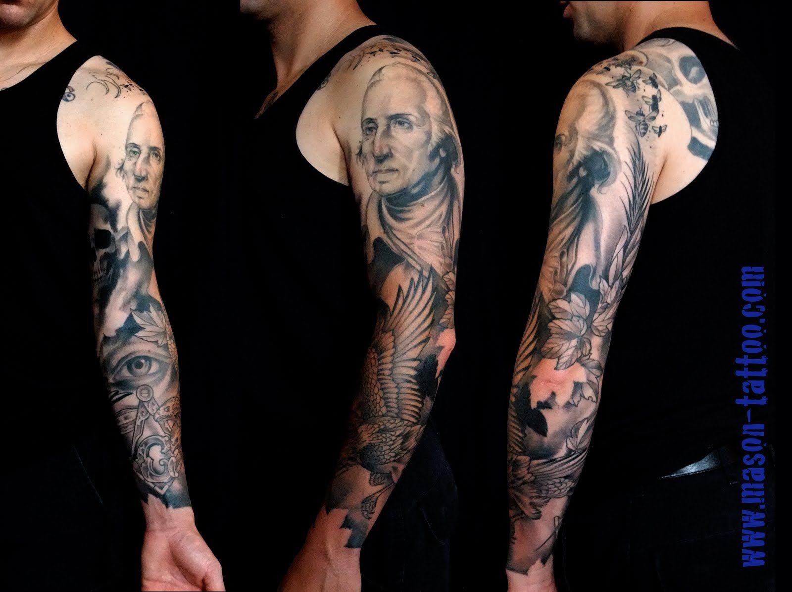 george washington dollar bill money mason williams tattoo cincinnati ohio skin to skin. Black Bedroom Furniture Sets. Home Design Ideas