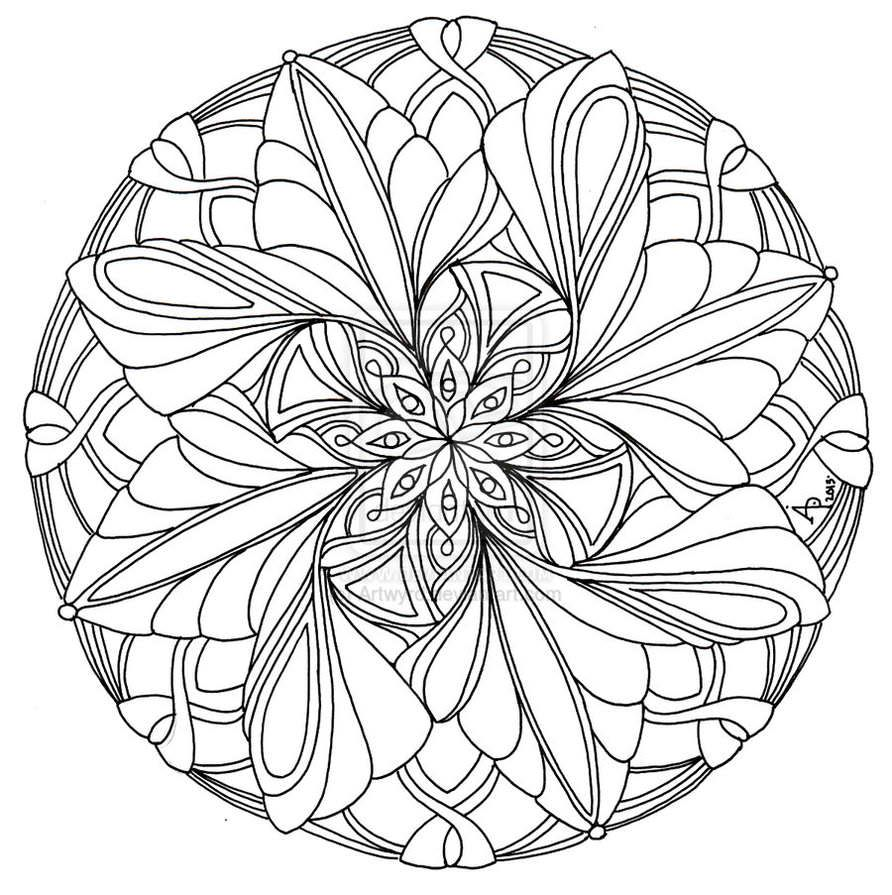 advanced mandala coloring pages printable - photo#19