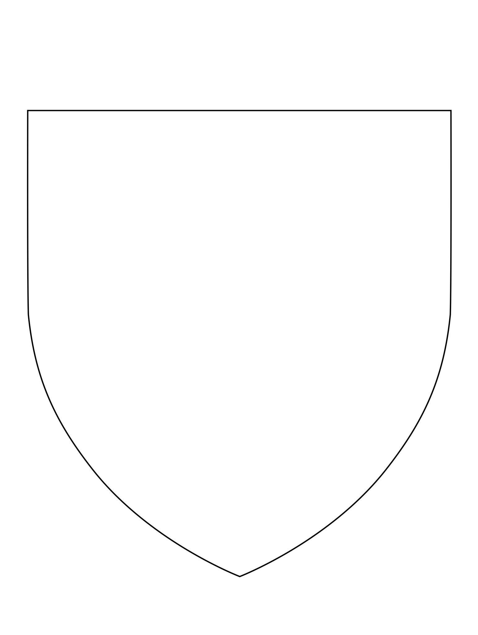 Heraldic Shield Blank