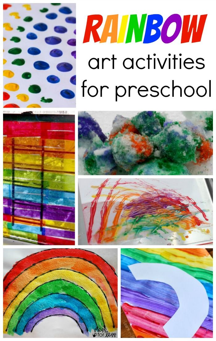 10 Rainbow Art Activities For Preschool And Toddler Kids