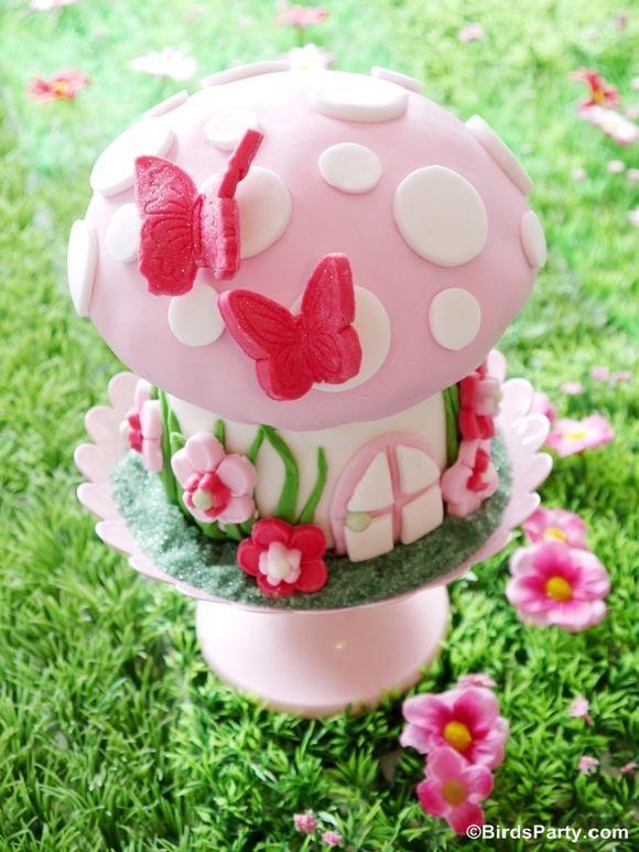 How To Make A Toadstool Birthday Cake Pinterest Fairy Birthday