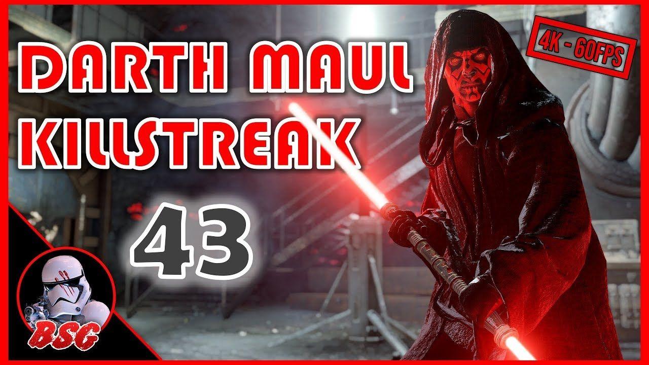 Hooded Darth Maul Killstreak Pc Mod Battlefront 2 4k 60fps Gameplay Star Wars Battlefront Battlefront Darth Maul