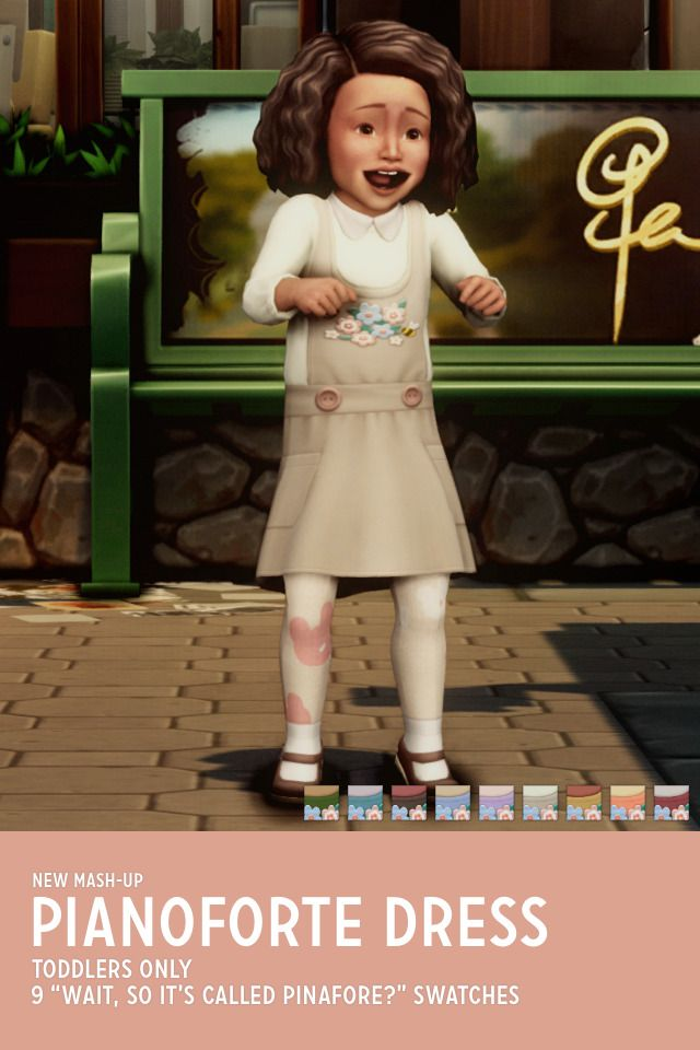 Ts4 Tuppence Romper Pianoforte Dress Sims 4 Toddler Sims 4 Cc Kids Clothing Sims 4 Clothing