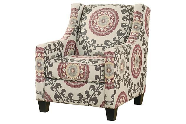 Amazing White Red And Gray Patterned Accent Chair For Your Living Inzonedesignstudio Interior Chair Design Inzonedesignstudiocom