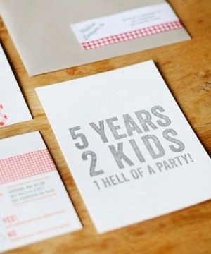 Adrienne Dillons 5th Anniversary BBQ Party Invitations