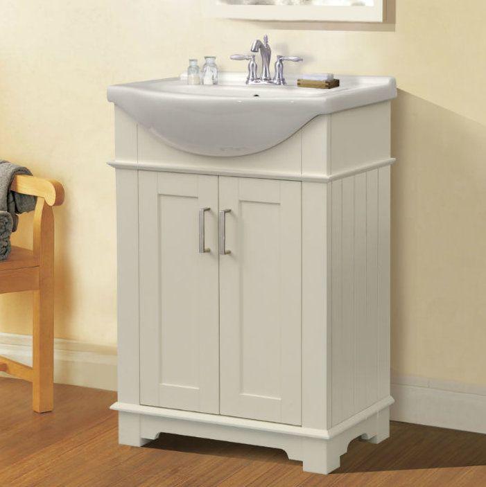 Lisette 24 Single Bathroom Vanity Kast Schuifdeur