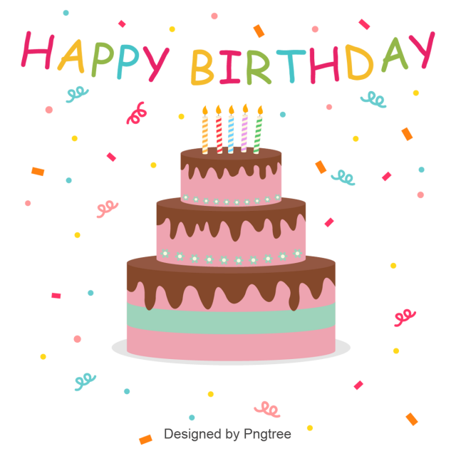 Happy Birthday Cake Label Abstract Adha Arab Png And Vector