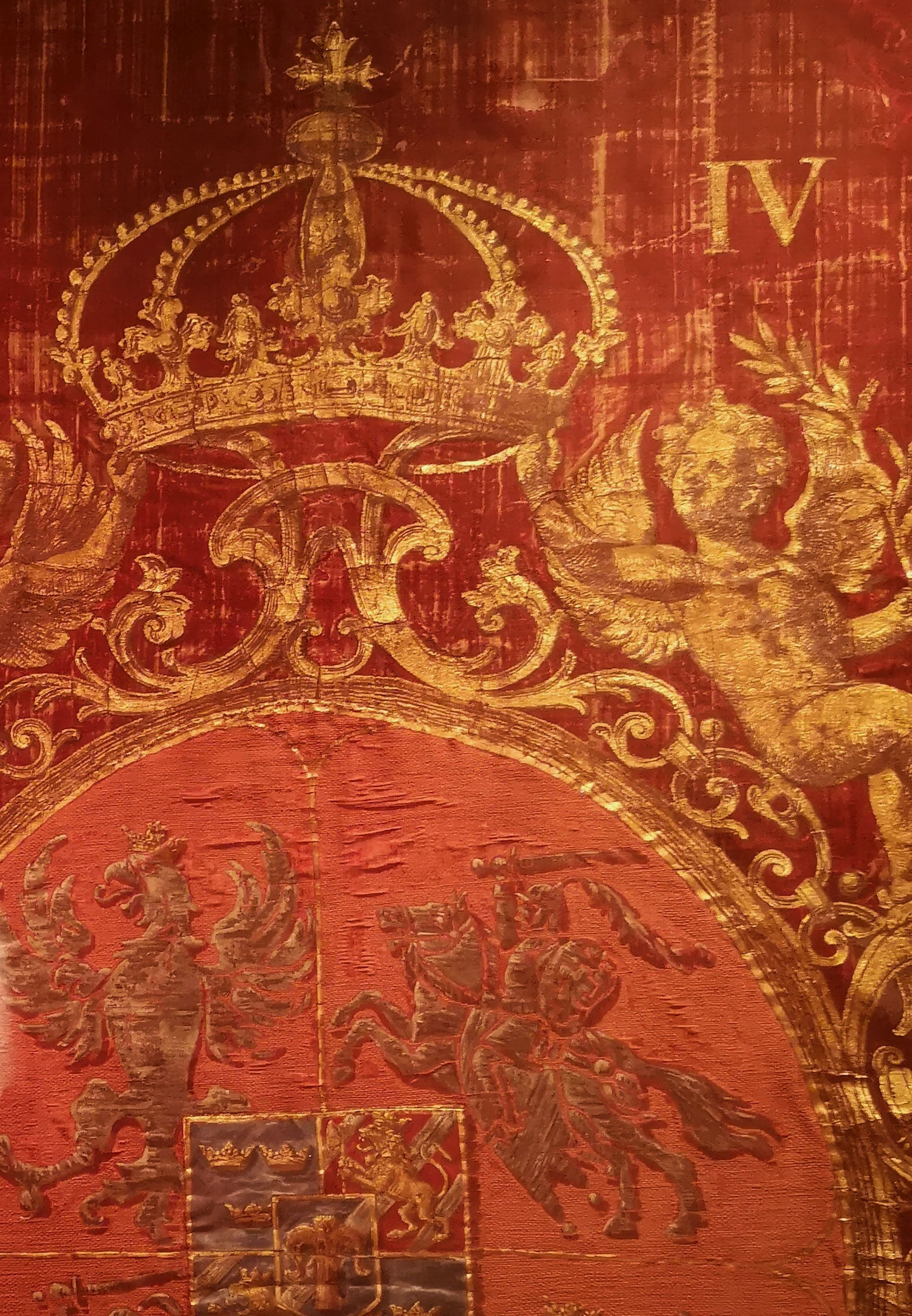 Detail of banner with emblem of Ladislaus IV Vasa by