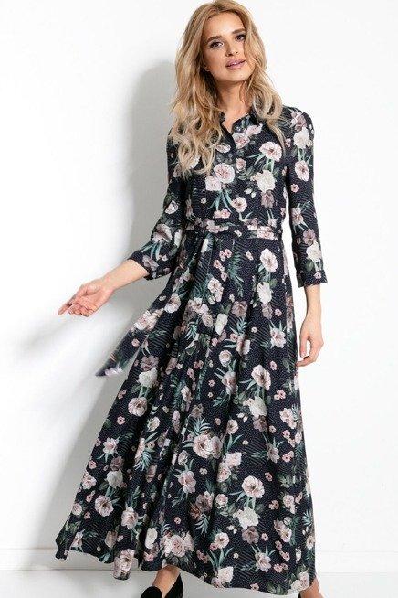 Dluga Ekskluzywna Koszulowa Sukienka W Duze Kwiaty Sukienki Shop Day Dresses Dresses Maxi Dress