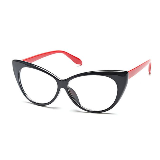 Women Cat-Eye Eyeglasses Frame,77042 Plastic Super