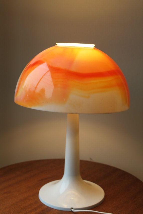 Retro Table Lamp Orange Marble Plastic Gilbert Creations Canada Retro Table Lamps Retro Table Table Lamp