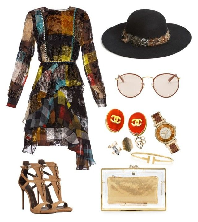 """""""Untitled #7"""" by jasonlu on Polyvore featuring Preen, Giuseppe Zanotti, Christys', Chanel, Tiffany & Co., Michael Kors, Wet Seal, Charlotte Olympia and Ray-Ban"""