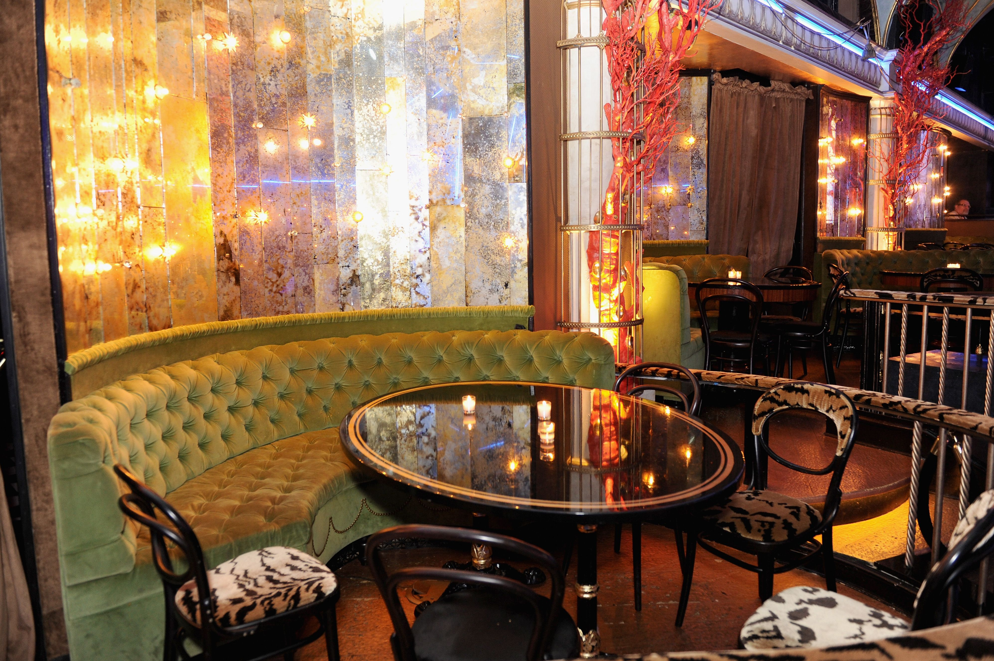 A general view of Paramount Hotel's Diamond Horseshoe at the 2014 Tony Honors Cocktail Party. (Photo by Craig Barritt/Getty Images for Tony Awards Productions) #TonyAwards cc @The Tony Awards