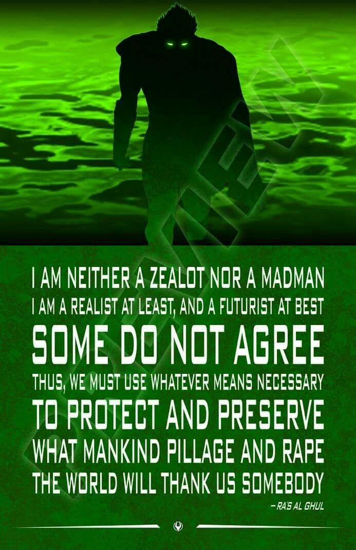 League Quotes Cool Ra's Al Ghul Quotethe Demonthe Demon's Headleague Of Assassin .
